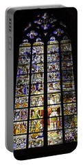 Cologne Cathedral Stained Glass Window Of St Peter And Tree Of Jesse Portable Battery Charger