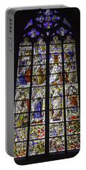 Cologne Cathedral Stained Glass Window Of The Three Holy Kings Portable Battery Charger
