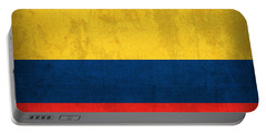 Colombia Flag Vintage Distressed Finish Portable Battery Charger