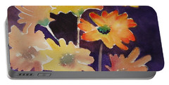 Portable Battery Charger featuring the painting Color And Whimsy by Marilyn Jacobson