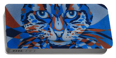 Color Cat IIi Portable Battery Charger by Pamela Clements