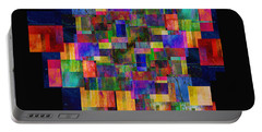 Color Fantasy - Abstract - Art Portable Battery Charger by Ann Powell