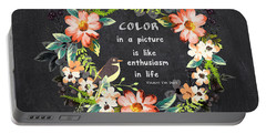 Color In A Picture Quote Portable Battery Charger