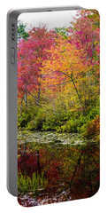 Portable Battery Charger featuring the photograph Color On The Water by Mike Ste Marie