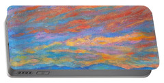 Color Ripples Over The Blue Ridge Portable Battery Charger