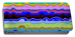 Color Waves No. 4 Portable Battery Charger by Michelle Calkins