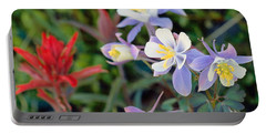 Colorado Blue Columbine Portable Battery Charger
