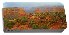Colorado Natl Monument Snow Coming Down The Canyon Portable Battery Charger