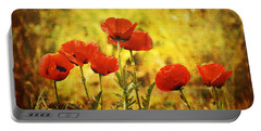 Portable Battery Charger featuring the photograph Colorado Poppies by Tammy Wetzel