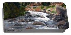 Portable Battery Charger featuring the painting Colorado Rapids by Jamie Frier