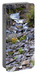 Colorado Waterfall Mountain Stream Portable Battery Charger by Andrea Hazel Ihlefeld