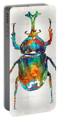 Colorful Beetle Art - Scarab Beauty - By Sharon Cummings Portable Battery Charger