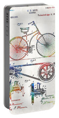 Colorful Bike Art - Vintage Patent - By Sharon Cummings Portable Battery Charger by Sharon Cummings