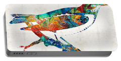 Colorful Bird Art - Sweet Song - By Sharon Cummings Portable Battery Charger