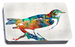 Colorful Bird Art - Sweet Song - By Sharon Cummings Portable Battery Charger by Sharon Cummings