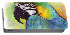 Macaw Watercolor Portable Battery Charger