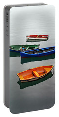 colorful boats on Santurtzi Portable Battery Charger