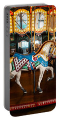 Portable Battery Charger featuring the photograph Colorful Carousel Horse by Jerry Cowart