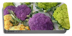 Portable Battery Charger featuring the photograph Colorful Cauliflower by Caryl J Bohn