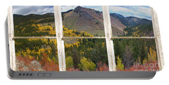 Colorful Colorado Rustic Window View Portable Battery Charger