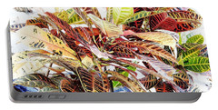 Colorful - Croton - Plant Portable Battery Charger by D Hackett