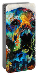 Colorful Dog Art - Heart And Soul - By Sharon Cummings Portable Battery Charger