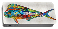 Colorful Dolphin Fish By Sharon Cummings Portable Battery Charger