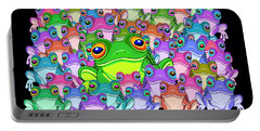 Colorful Froggy Family Portable Battery Charger