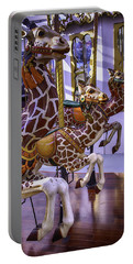 Colorful Giraffes Carrousel Portable Battery Charger