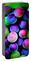 Colorful Grapes - Digital Art Portable Battery Charger by Carol Groenen