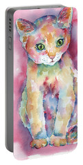Colorful Kitten Portable Battery Charger
