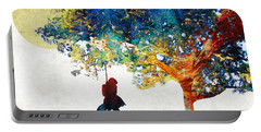 Colorful Landscape Art - The Dreaming Tree - By Sharon Cummings Portable Battery Charger