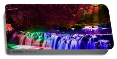 Colorful Landscapes And Water Flow Portable Battery Charger