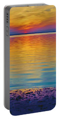 Colorful Lowtide Sunset Portable Battery Charger