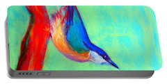 Colorful Nuthatch Bird Portable Battery Charger