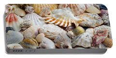 Colorful Ocean Seashells 1 Portable Battery Charger by Andee Design
