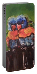 Colorful Parrots Portable Battery Charger