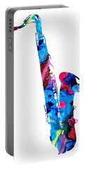 Colorful Saxophone 2 By Sharon Cummings Portable Battery Charger