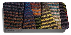 Portable Battery Charger featuring the photograph Colorful Scarves by Les Palenik