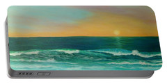 Colorful Sunset Beach Paintings Portable Battery Charger