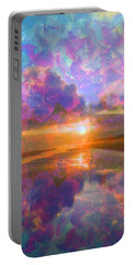 Colorful Sunset By Jan Marvin Portable Battery Charger