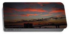Portable Battery Charger featuring the photograph Colorful Sunset by Jane Luxton