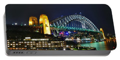 Colorful Sydney Harbour Bridge By Night Portable Battery Charger