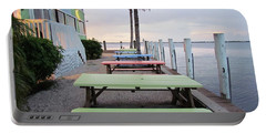 Portable Battery Charger featuring the photograph Colorful Tables by Cynthia Guinn