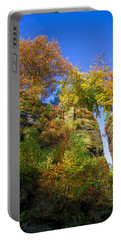 Colorful Trees In The Elbe Sandstone Mountains Portable Battery Charger