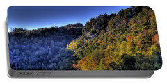 Portable Battery Charger featuring the photograph Colorful Trees Over A Lake by Jonny D