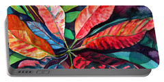 Colorful Tropical Leaves 2 Portable Battery Charger