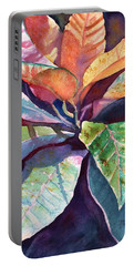 Colorful Tropical Leaves 3 Portable Battery Charger