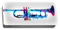 Colorful Trumpet 2 Art By Sharon Cummings Portable Battery Charger