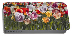 Colorful Tulips In The Sun Portable Battery Charger